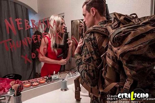 Fotográfico mostra os dois lados de quem é um soldado de guerra8