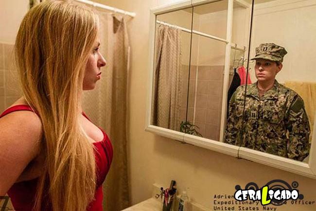 Fotográfico mostra os dois lados de quem é um soldado de guerra9