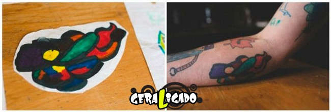 Pai tatua desenhos do filho no proprio corpo10