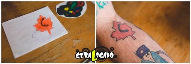 Pai tatua desenhos do filho no proprio corpo2