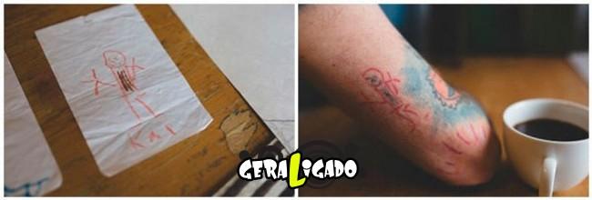 Pai tatua desenhos do filho no proprio corpo6