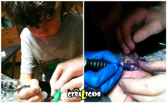 Pai tatua desenhos do filho no proprio corpo7