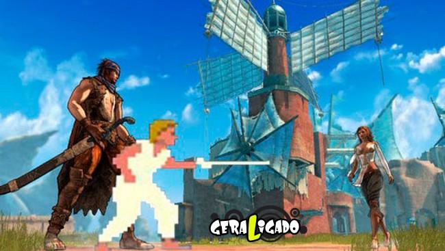 Personagesn de Video Game Antes e agora9