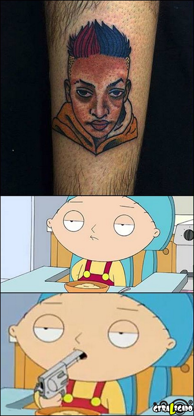 1 Tatuagem do mc pequeno perna