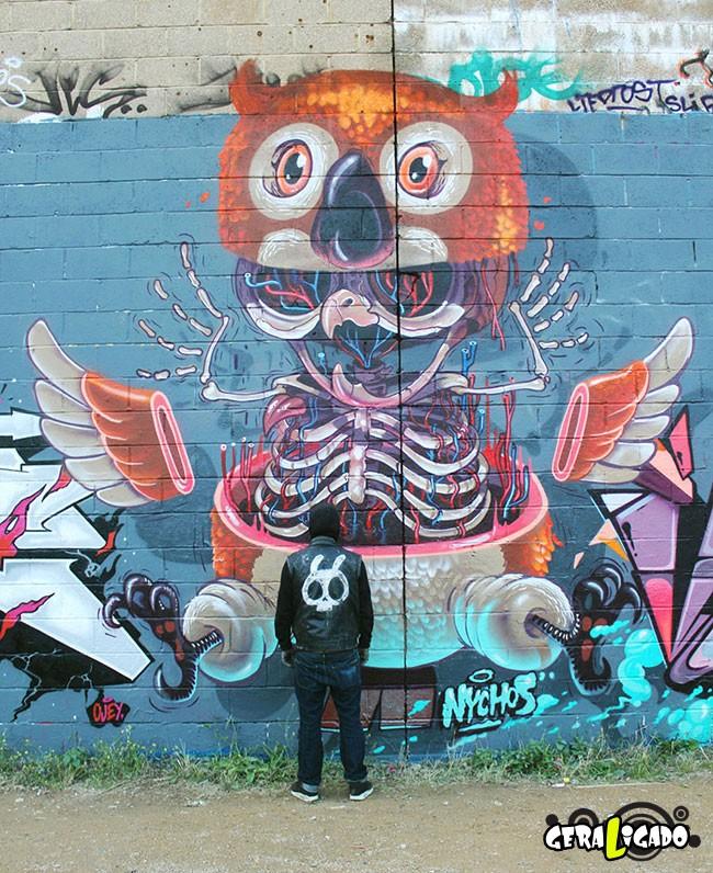 Anatomia vira  arte de rua11