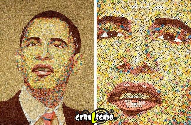 Criando retratos de famosos com coisas inusitadas2