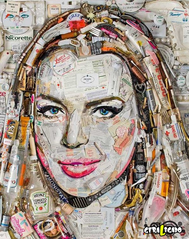 Criando retratos de famosos com coisas inusitadas22