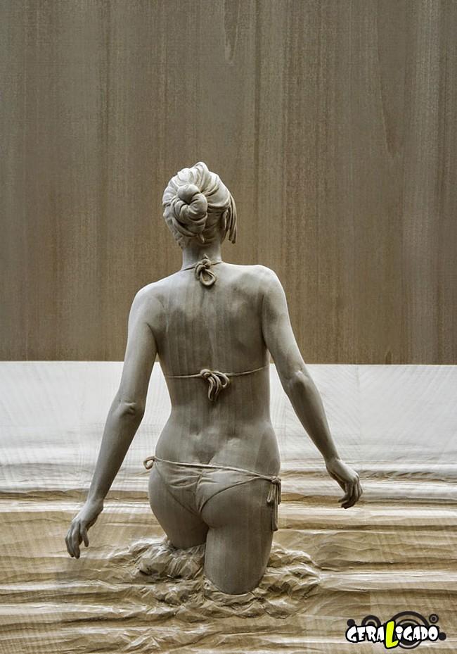Esculturas de madeira ultra realistas de Peter Demetz