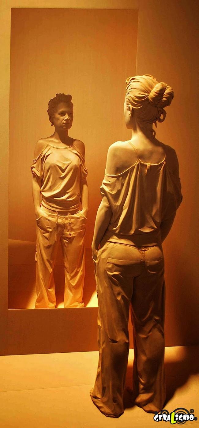 Esculturas de madeira ultra realistas de Peter Demetz1