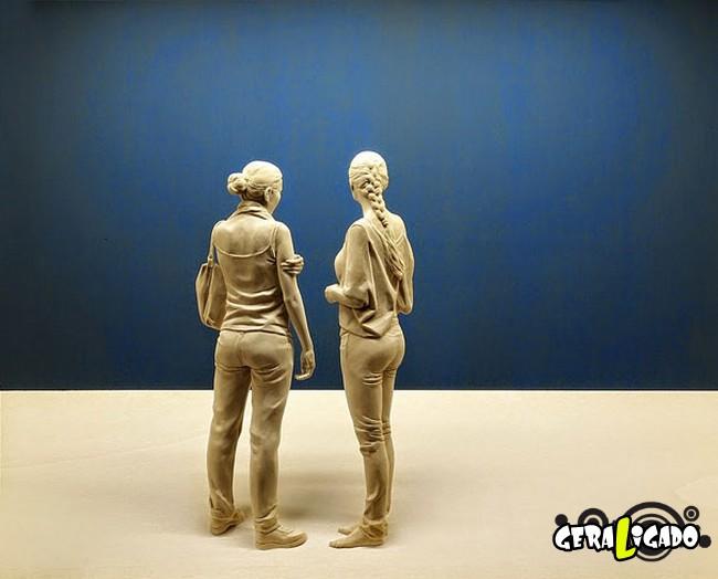 Esculturas de madeira ultra realistas de Peter Demetz10