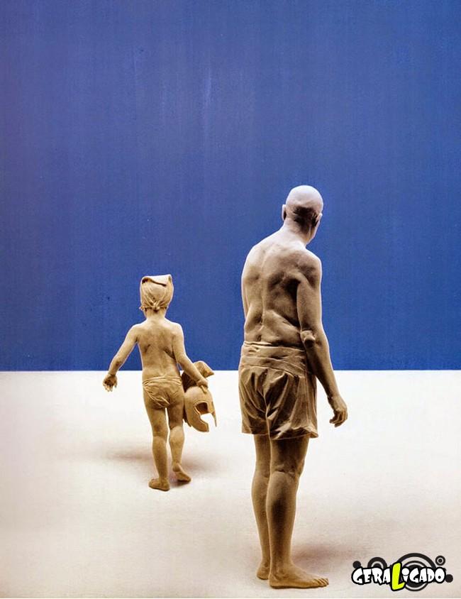 Esculturas de madeira ultra realistas de Peter Demetz4