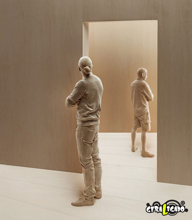 Esculturas de madeira ultra realistas de Peter Demetz6