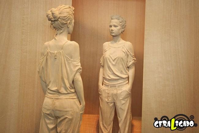 Esculturas de madeira ultra realistas de Peter Demetz7