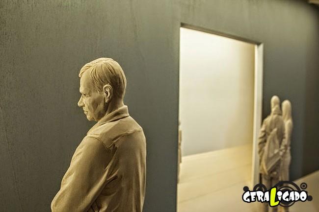Esculturas de madeira ultra realistas de Peter Demetz9