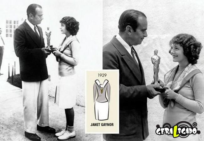 Ganhadoras do Oscar e seu lookc onforme os anos...