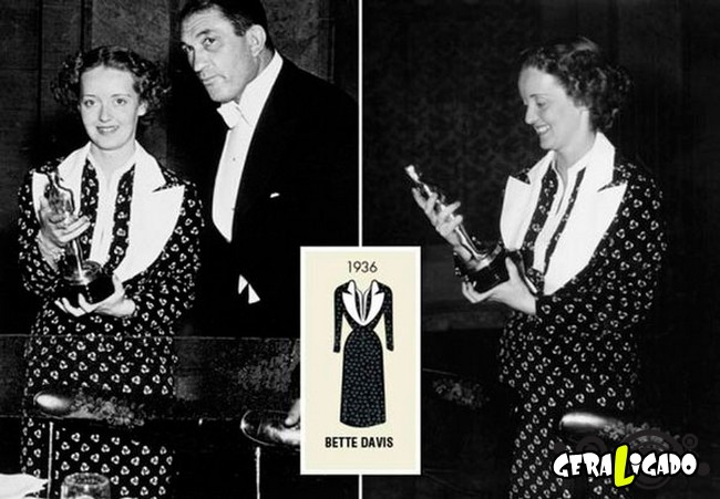 Ganhadoras do Oscar e seu lookc onforme os anos...1