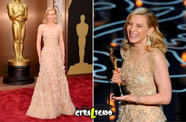 Ganhadoras do Oscar e seu lookc onforme os anos...15
