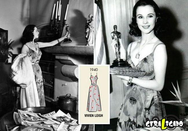 Ganhadoras do Oscar e seu lookc onforme os anos...3