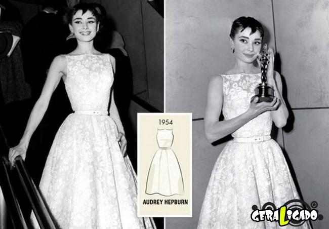 Ganhadoras do Oscar e seu lookc onforme os anos...4