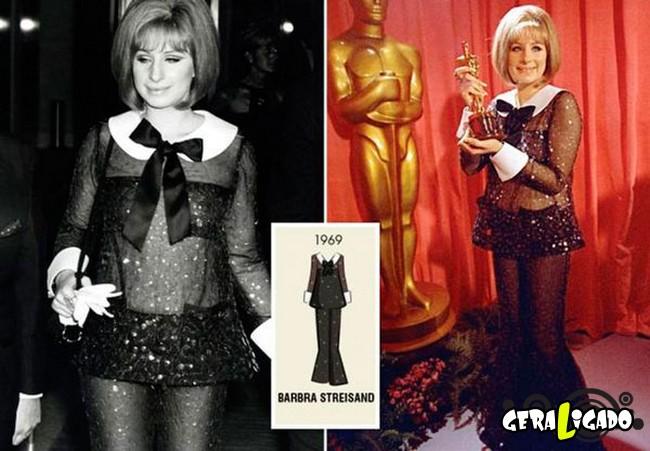 Ganhadoras do Oscar e seu lookc onforme os anos...5