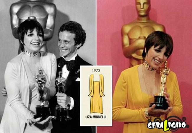 Ganhadoras do Oscar e seu lookc onforme os anos...6