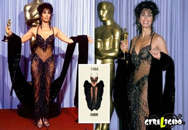 Ganhadoras do Oscar e seu lookc onforme os anos...7