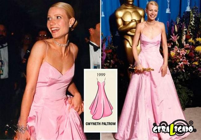 Ganhadoras do Oscar e seu lookc onforme os anos...8