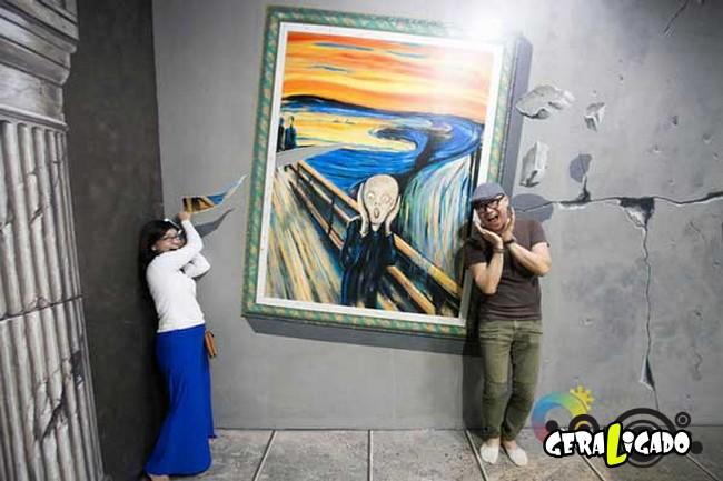Museu 3D faz com que os visitantes participem das obras de arte12