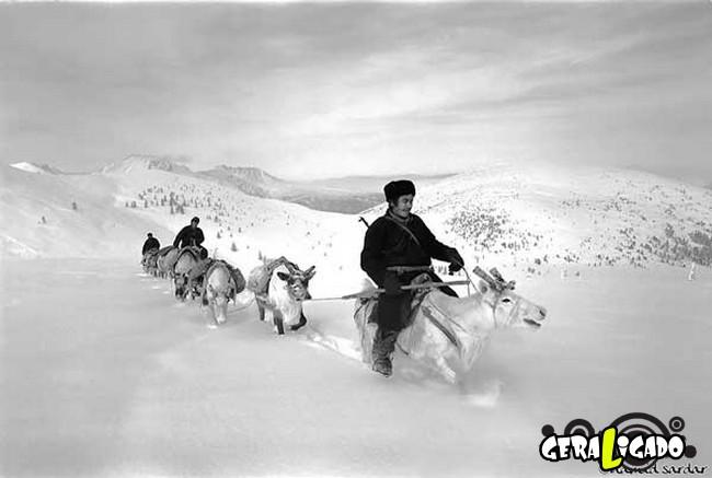 O cotidiano de uma tribo nômade da Mongólia9