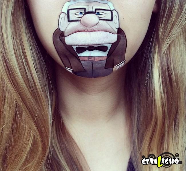 Transformando a boca em cartoons