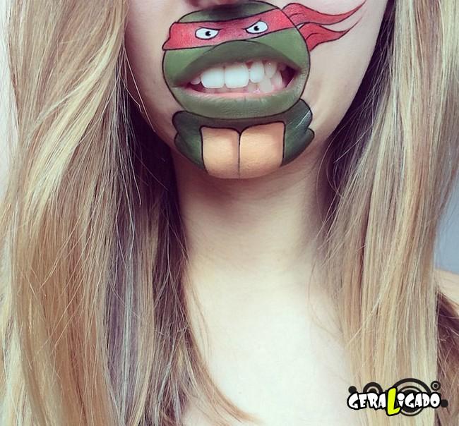 Transformando a boca em cartoons15