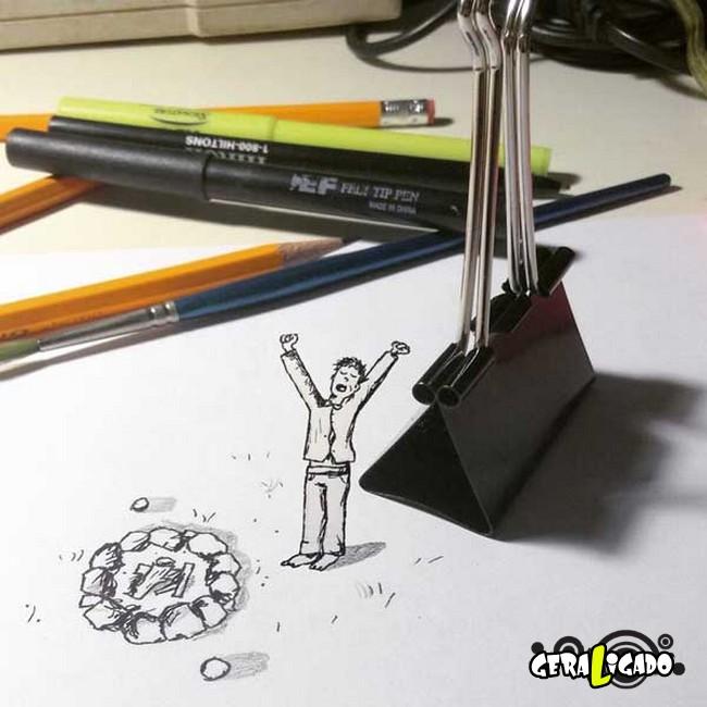 Usando objetos do dia a dia pra fazer arte19