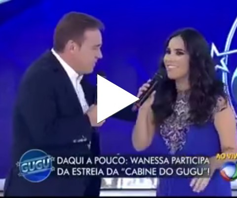 Vanessa Camargo passa vergonha no programa do GUGU