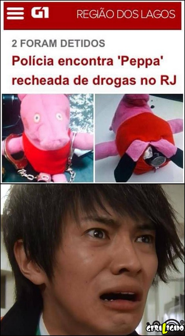 1 Peppa agora é do trafico