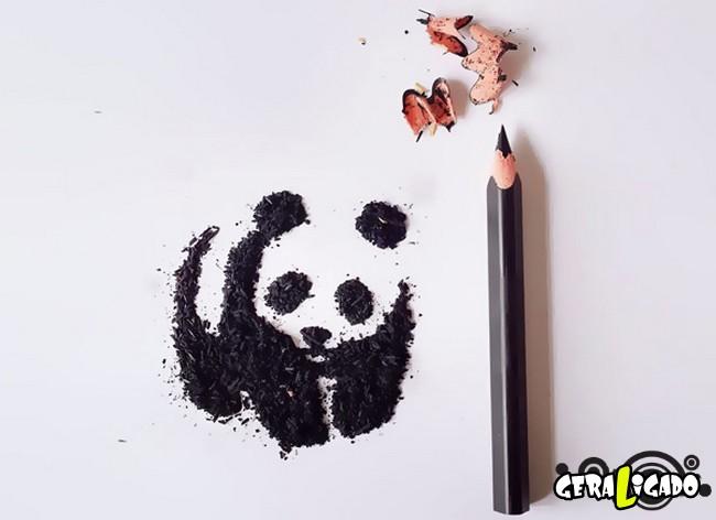Criando arte com lápis apontados