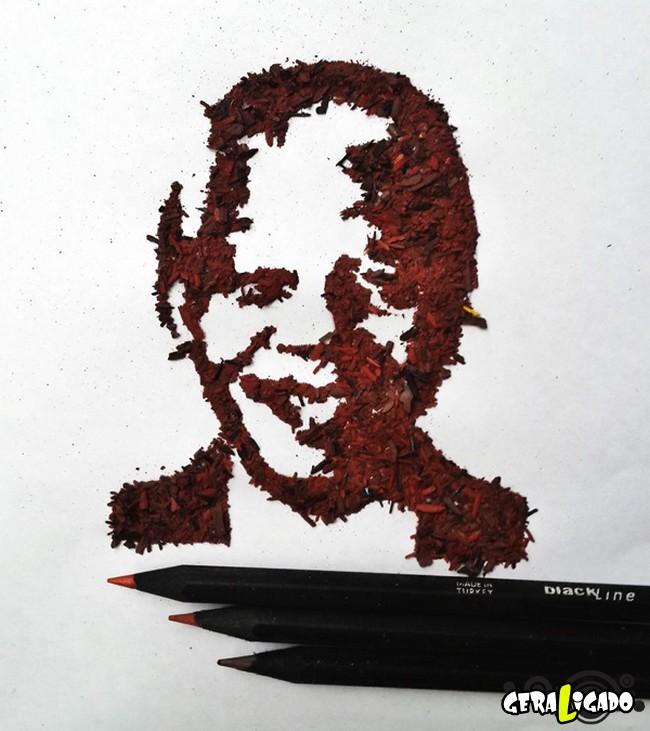 Criando arte com lápis apontados10