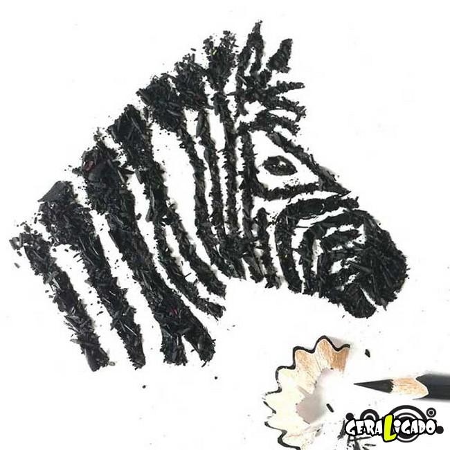 Criando arte com lápis apontados15