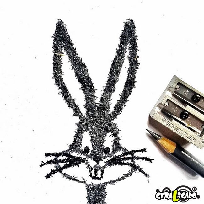 Criando arte com lápis apontados2