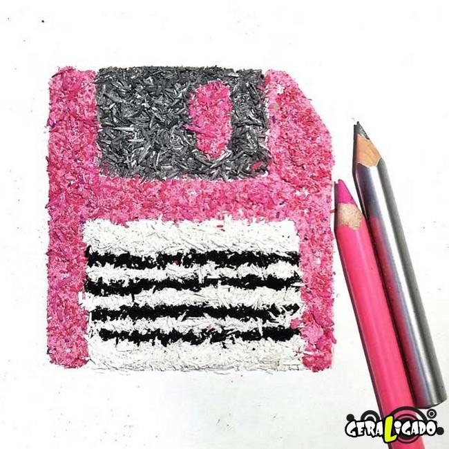 Criando arte com lápis apontados3