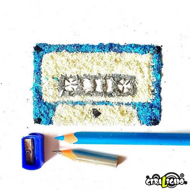 Criando arte com lápis apontados4
