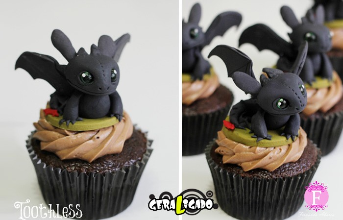 Cupcakes inspirados em algumas animações