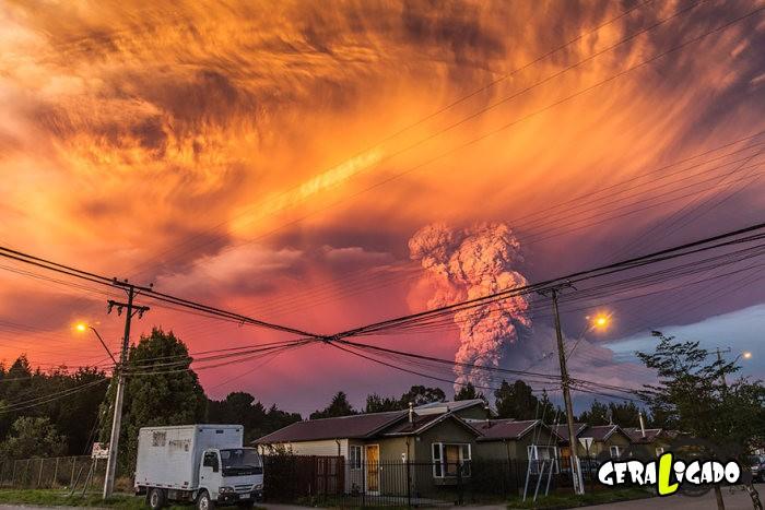 Fotografias incríveis mostram a erupção do vulcão Calbuco