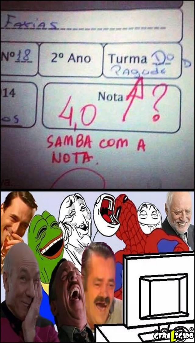 1 Samba com a nota