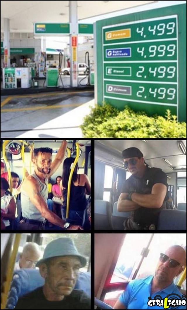 2 Com a gasolina cara, vai todo mundo de busão