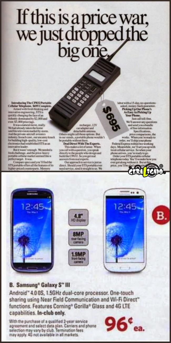 Anúncios que mostram a incrível evolução dos produtos eletrônicos9