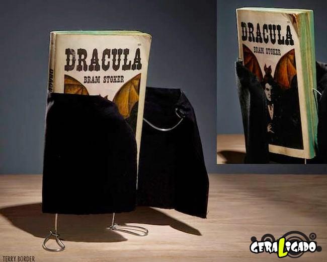 Fotógrafo dá vida a seus velhos livros de forma criativa
