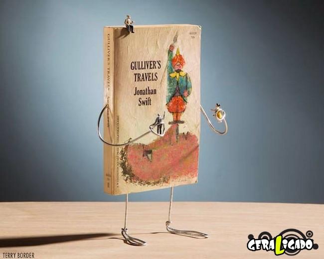 Fotógrafo dá vida a seus velhos livros de forma criativa3