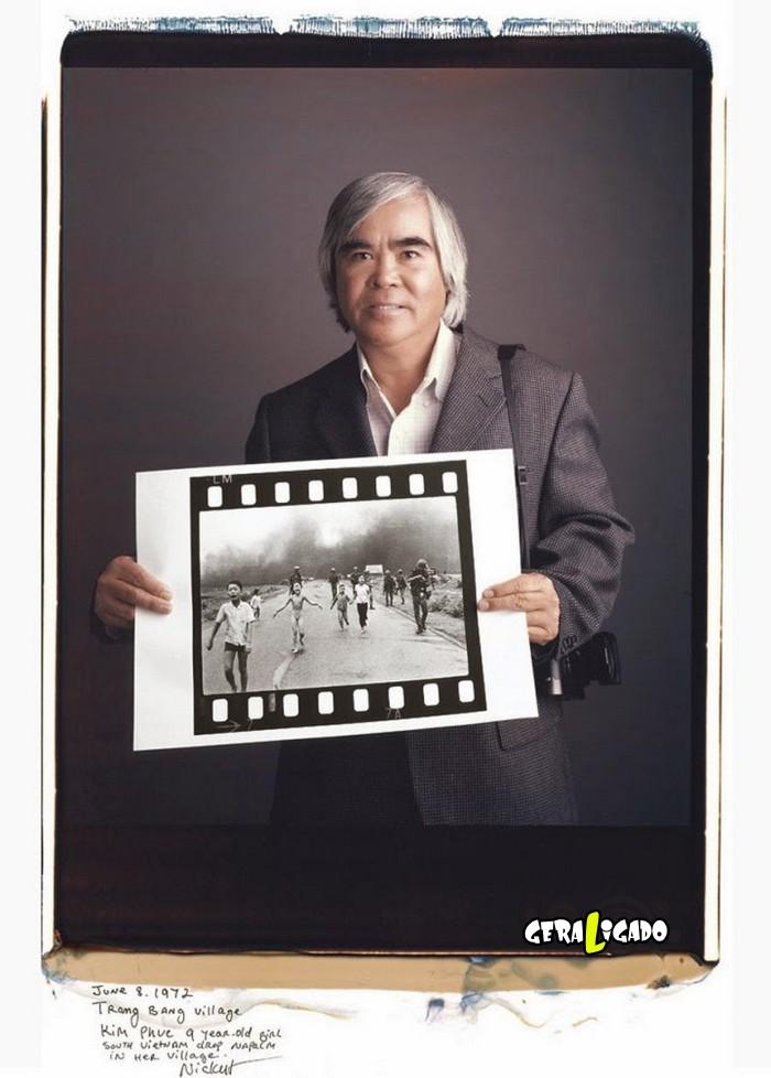 Fotógrafos famosos posando com suas imagens icônicas1