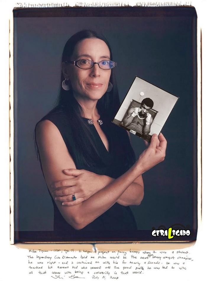 Fotógrafos famosos posando com suas imagens icônicas16