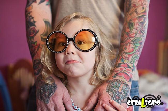 Imagens de lindos bebês com seus pais tatuados15